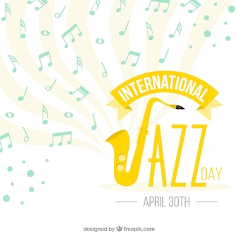 Jazz fond avec des notes de musique
