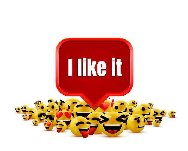 Je l'aime groupe emoji visage jaune clignotant