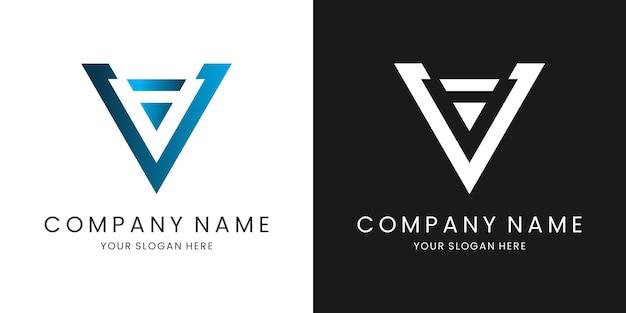 Je logo lettre design moderne et créatif