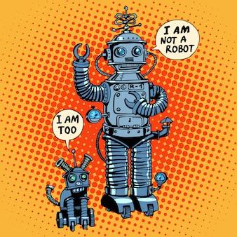 Je ne suis pas un robot dit chien futur science fiction