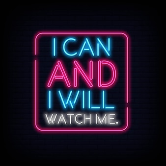 Je peux et je vais me regarder neontext