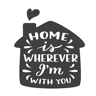 Je suis chez moi partout où je suis avec vous