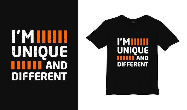 Je suis un design de t-shirt typographique unique et différent