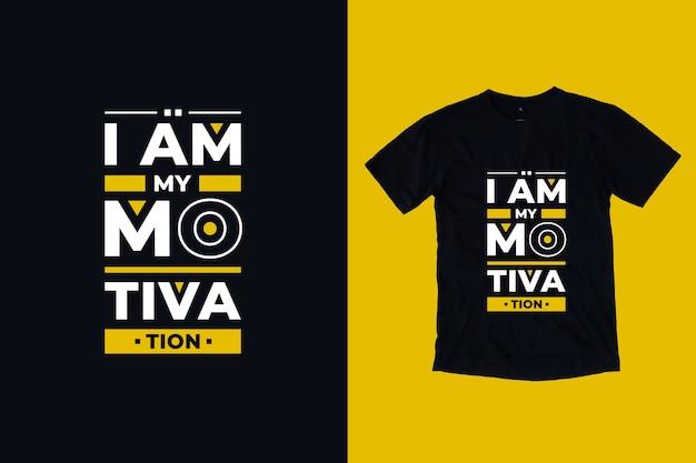 Je suis ma motivation citations inspirantes modernes conception de t-shirt