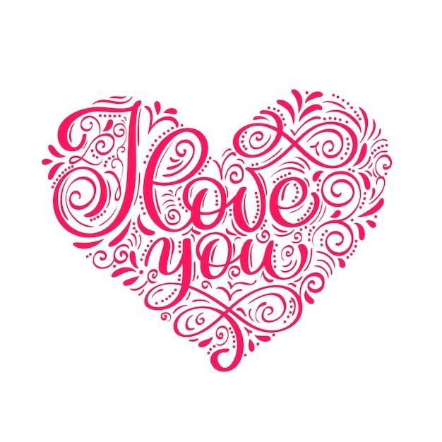 Je t'aime carte de saint valentin