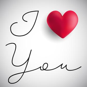 Je t'aime fond de la saint valentin