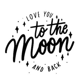 Je t'aime jusqu'à la lune et le retour