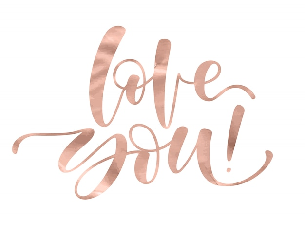 Je t'aime. lettrage romantique avec calligraphie de la main moderne