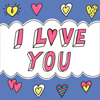Je t'aime, lettrage