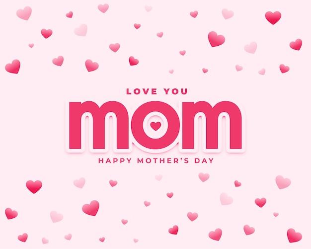 Je t'aime maman fête des mères coeur voeux