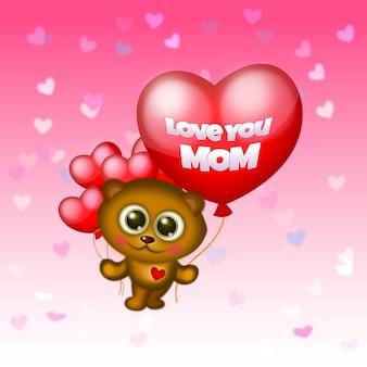 Je t'aime maman fond