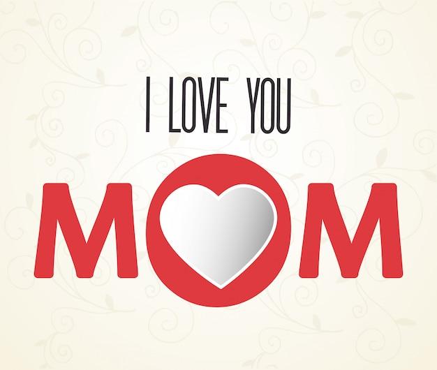 Je t'aime maman lettrage