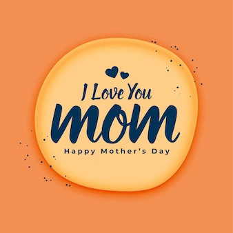 Je t'aime message maman salutation de fête des mères