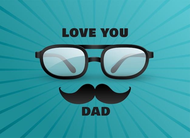 Je t'aime papa carte de voeux