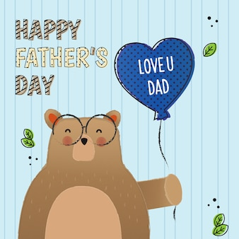 Je t'aime papa, pour la fête des pères