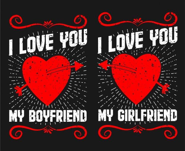 Je t'aime t shirt couple