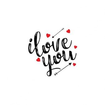 Je t'aime typographie