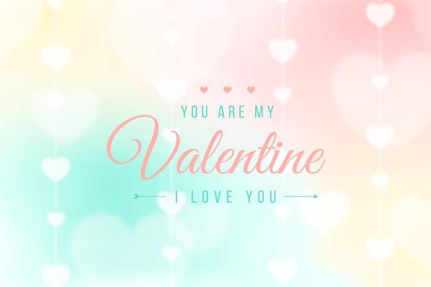 Je t'aime valentine arrière-plan flou