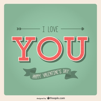 Je te aime valentine card