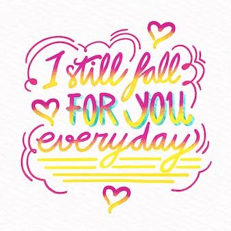 Je tombe amoureux de toi tous les jours