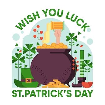 Je vous souhaite bonne chance st. jour de patrick