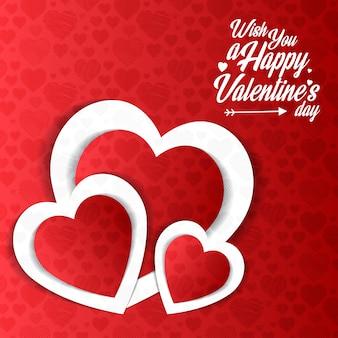 Je vous souhaite une bonne saint valentin avec un motif rouge