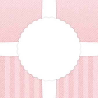 Jeans carte de voeux rose clair. illustration vectorielle