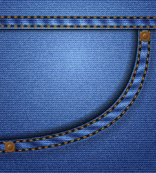 Jeans ou poche en jean