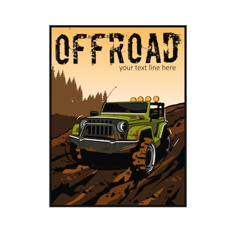 Jeep verte sur la boue