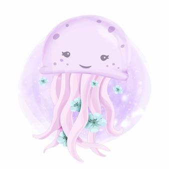 Jelly fish sourire animal mignon
