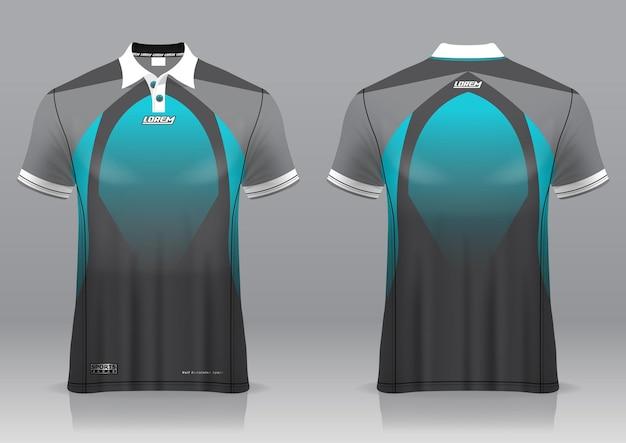 Jersey golf, vue avant et arrière, design sportif et prêt à être imprimé sur tissu et texlite