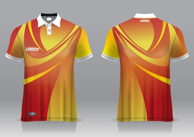Jersey golf, vue avant et arrière, design sportif