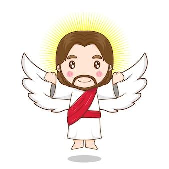 Jésus-christ comme un ange