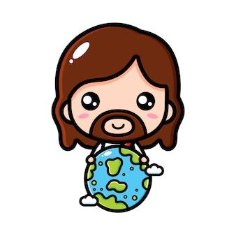 Jésus étreignant la terre
