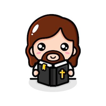 Jésus lisant le personnage de la bible