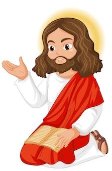 Jésus prêchant en position assise personnage
