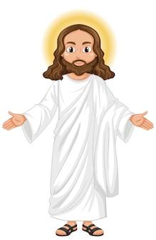 Jésus prêchant en position debout