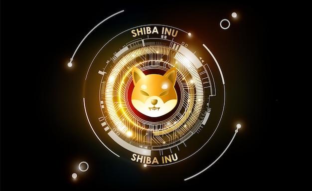 Jeton de crypto-monnaie shiba inu shib pièce de monnaie shiba inu du projet defi avec technologie de pistes pcb