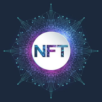 Jeton nft non fongible. icône de jetons non fongibles couvrant le concept nft. vecteur de logo de symbole de technologie de pointe.
