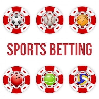 Jetons carrés de casino rouge de paris sportifs de football