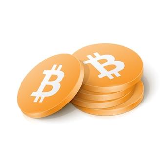 Jetons de crypto-monnaie bitcoin