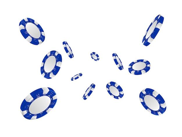 Jetons de poker dans une position différente. illustration vectorielle.