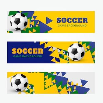 Jeu abstrait de bannières de football