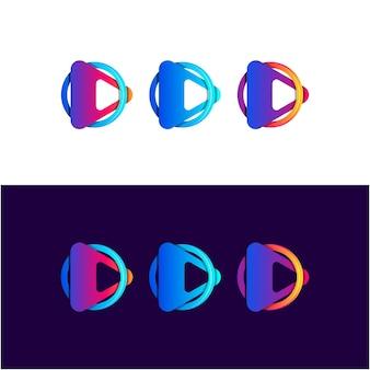 Jeu abstrait avec la couleur du dégradé de cercle