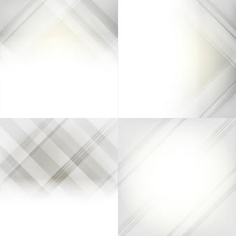 Jeu d'abstrait dégradé gris et blanc