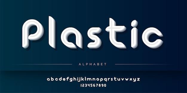 Jeu d'alphabet de style plastique