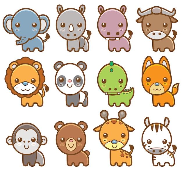 Jeu d'animaux de dessin animé