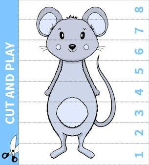 Jeu d'animaux de plateau pour enfants coupé et jouer pour le nombre en place pour les feuilles de travail des enfants d'âge préscolaire et des élèves du primaire.