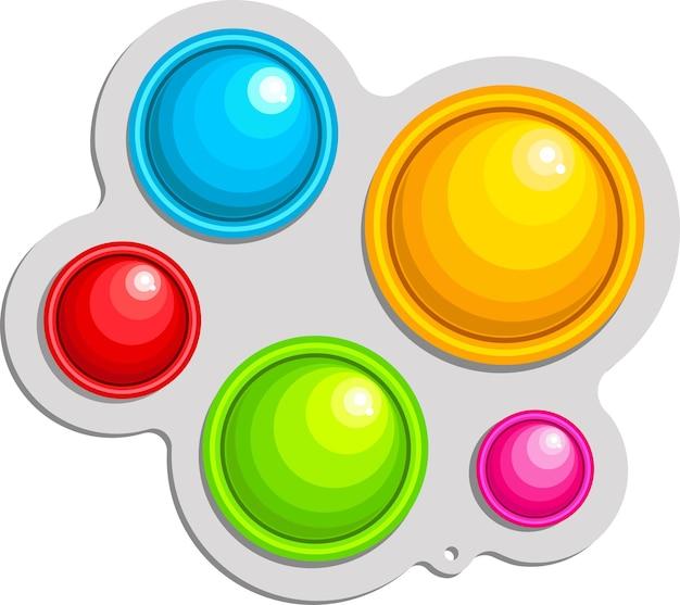 Un jeu antistress à la mode pour enfants et adultes jouet fait main aux couleurs de l'arc-en-ciel