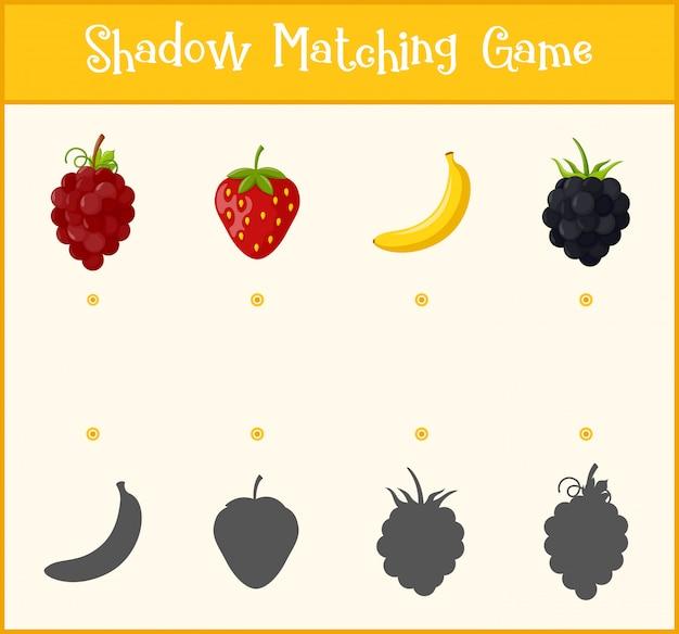 Jeu d'apprentissage des enfants, jeu d'association des ombres